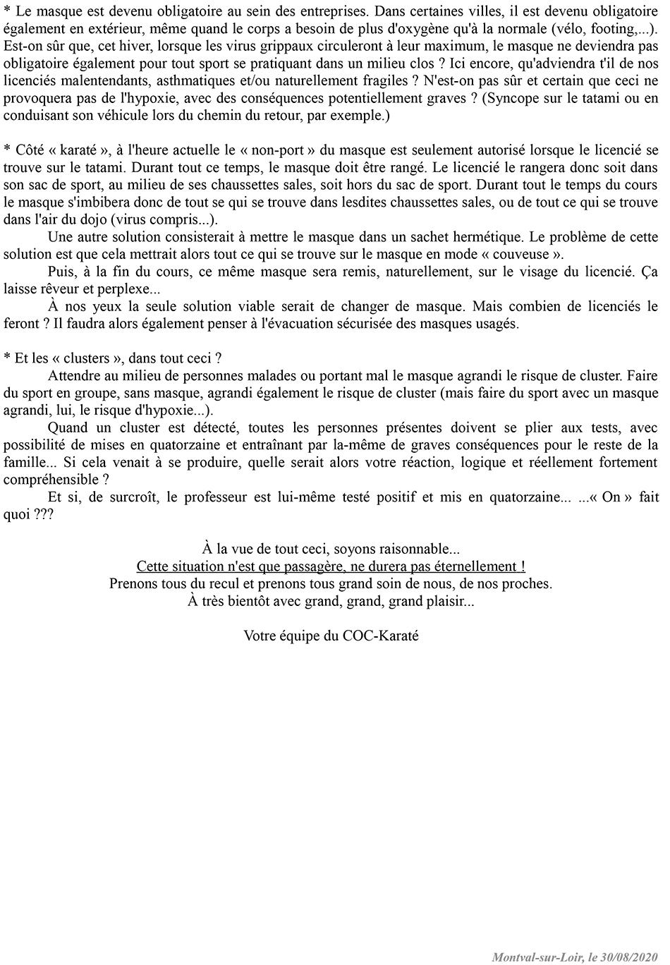 Karaté Château-du-Loir : Cours Karaté Ados